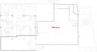 Торговое помещение 465 кв.м. напротив ТЦ ГОЛЛИВУД